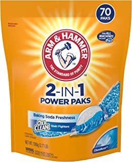 product image for ARM & HAMMER2-IN-1 Laundry Detergent Power Paks, 70 Count