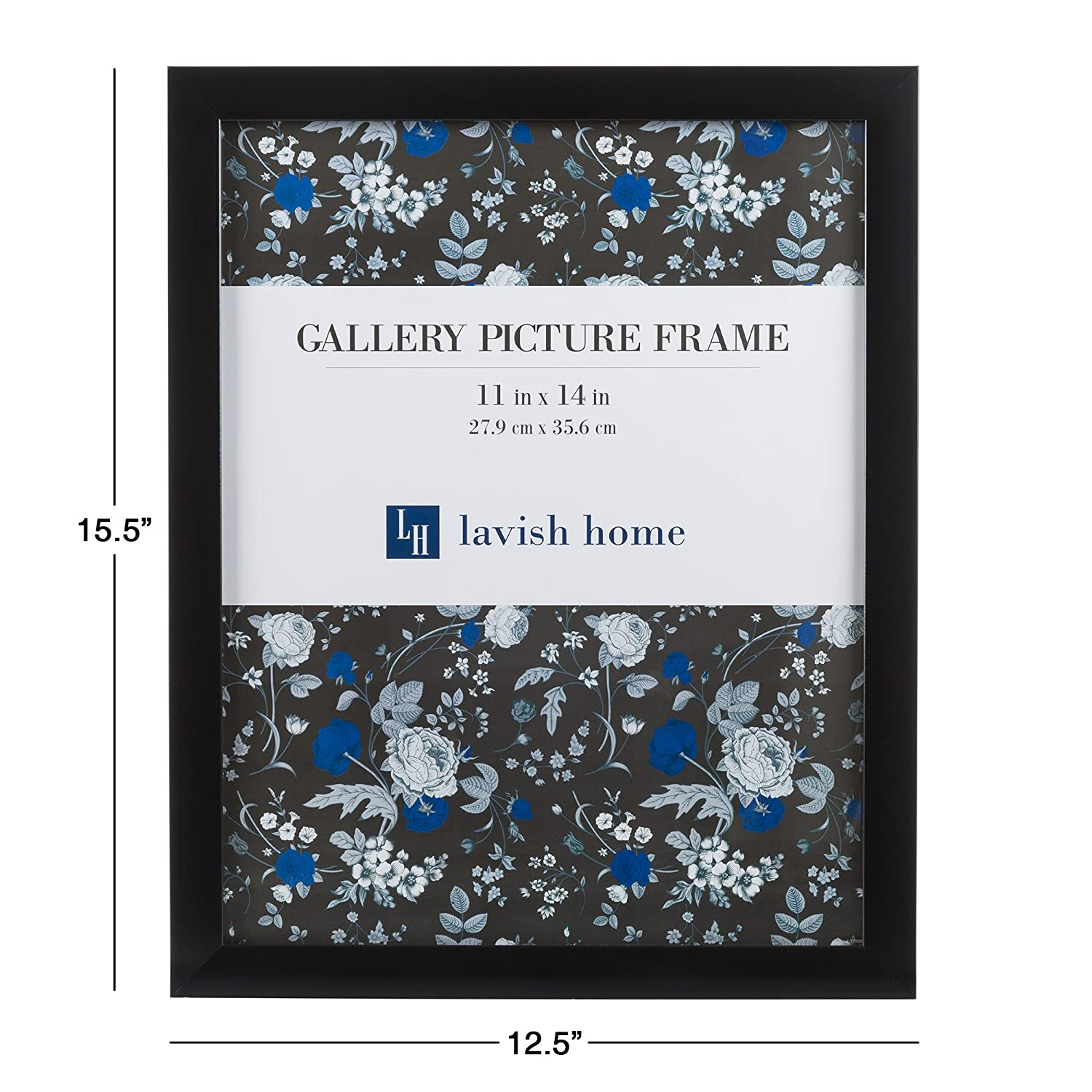 amazoncom picture frame set 8x10 frames pack for picture gallery wall with stand and hanging hooks set of 6 by lavish home black home u0026 kitchen
