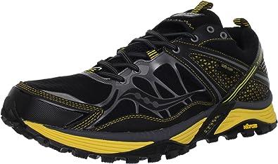SAUCONY Pro Grid Xodus 3.0 GTX Zapatilla de Trail Running Caballero, Negro/Amarillo, 48: Amazon.es: Zapatos y complementos