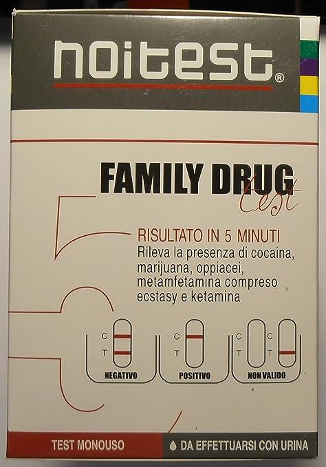 noitest test monouso urina oppiacei cocaina marijuana metamfetamina ketamina amazonit salute e cura della persona
