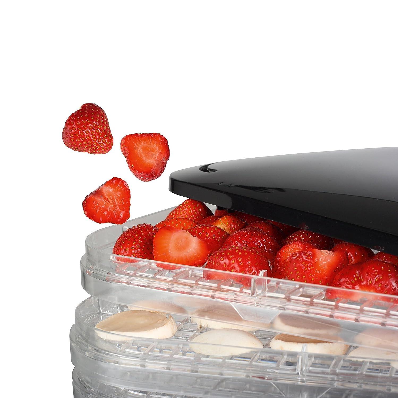 Princess 112380 Deshidratador de alimentos, seis niveles, temperatura ajustable