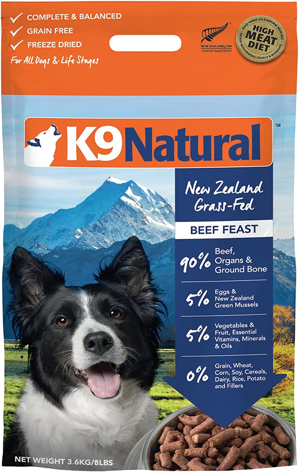 Best Natural Dog Food >> K9 Natural Freeze Dried Dog Food Or Topper Perfect Grain Free Healthy Hypoallergenic Limited Ingredients Booster For All Dog Types Raw Freeze