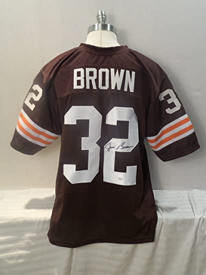 Jim Brown Signed Cleveland Browns Autographed Brown Novelty Custom Jersey  JSA f5eafe9c0
