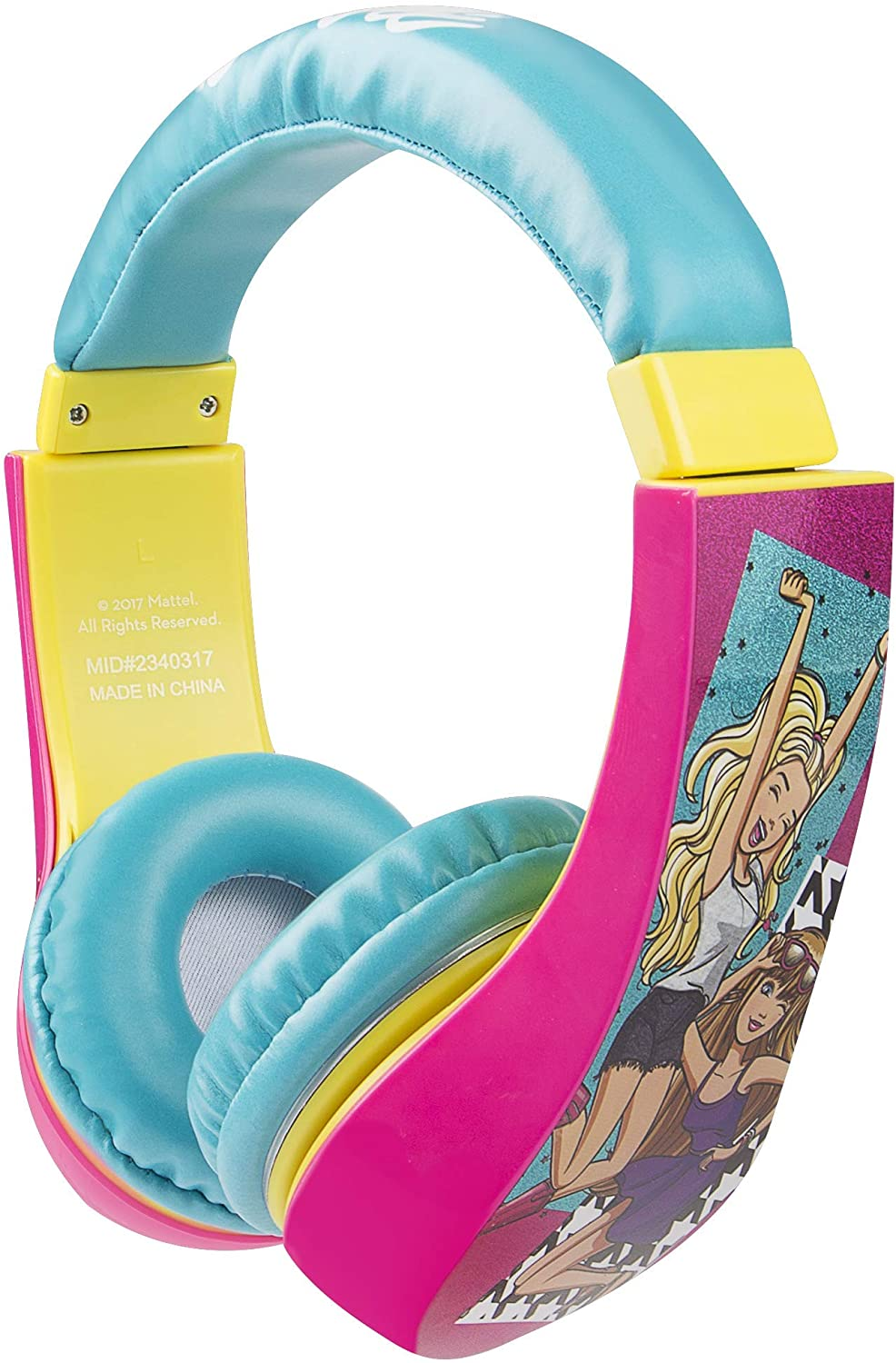 Sakar 30359-TRU Batman Kid Safe Over the Ear Headphone w/ Volume Limiter, Barbie