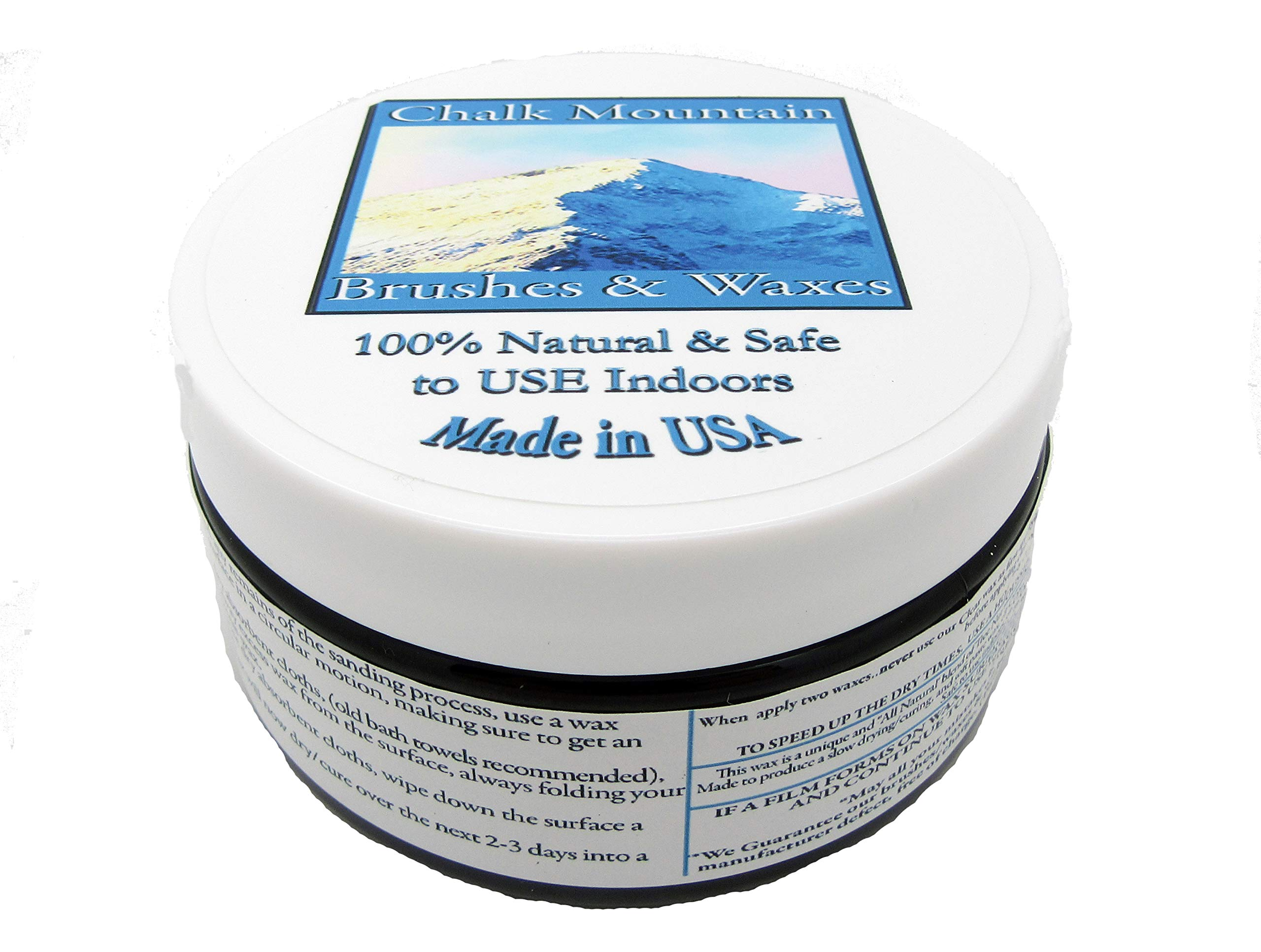 NEW LOOK!!! - Chalk Mountain Supply Co - 100% All Natural Furniture Finishing Waxes (4oz). (Charcoal Black)
