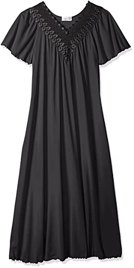 4cac36c5fc6 Shadowline Women s Plus-Size Beloved 53 Inch Flutter Sleeve Long Gown   Amazon.in  Clothing   Accessories