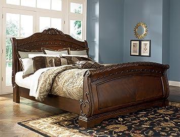 ashley north shore 50 queen sleigh bed b553 best seller - Sleigh Bed Frame Queen