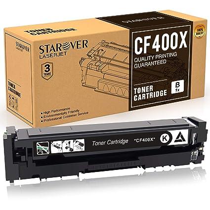 STAROVER 1x 201A / 201X CF400A / CF400X Cartucho De Tóner Negro ...