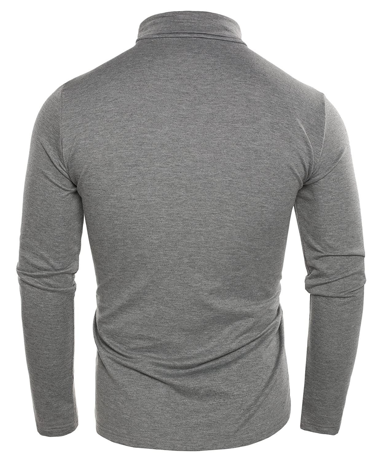 Coofandy Mens T Shirts Casual Slim Fit Basic Thermal Long Sleeve Turtleneck Solid Pullover Top