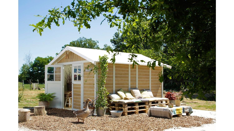 Caseta cobertizo resina jardin grosfillex deco 12 color marron sherwood: Amazon.es: Bricolaje y herramientas