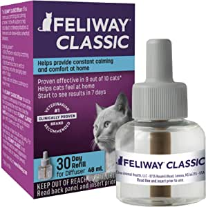 Feliway Classic Calming Diffuser Refill (1 Pack, 48 ml)   Reduce Problem, Scratching, Spraying, and Fighting   Constant Calm & Comfort At Home