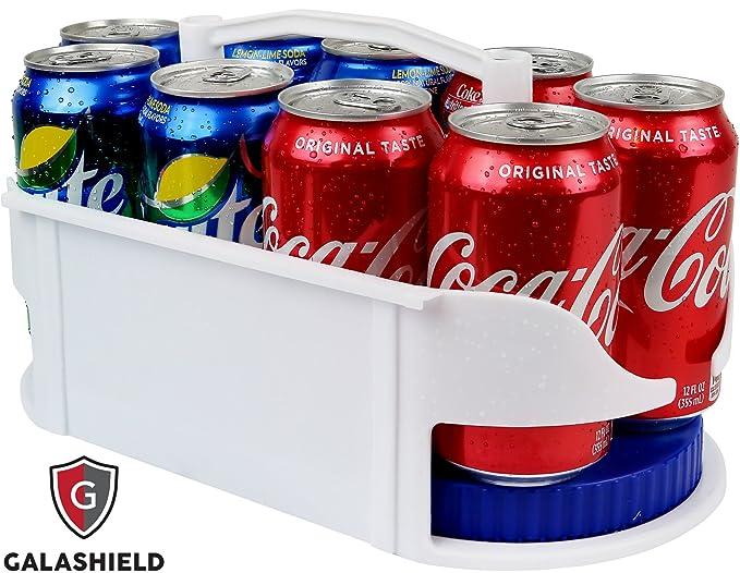 galashield giratorio soporte para latas de soda dispensador y organizador para refrigerador y armario: Amazon.es: Hogar