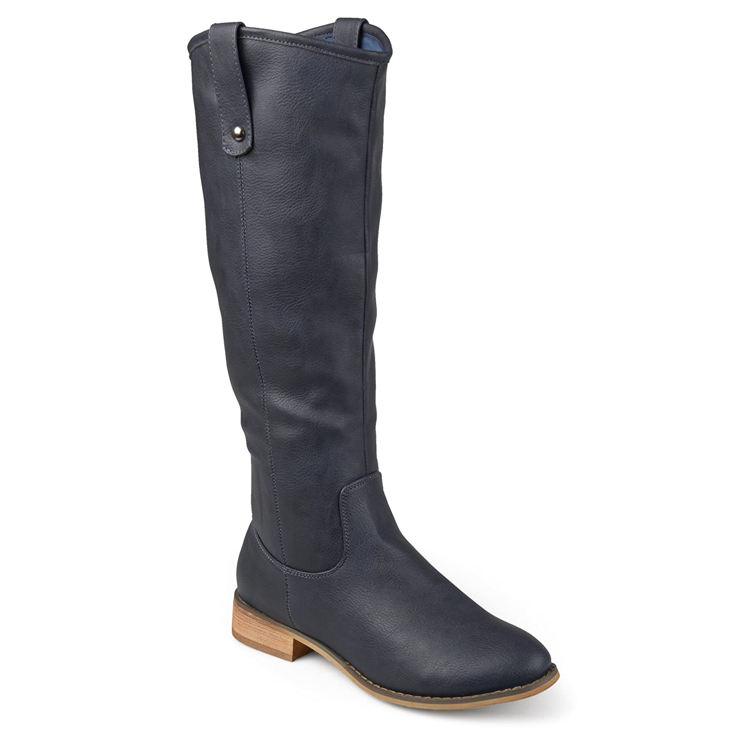 Journee Collection Womens Regular Wide and Extra Wide Calf Round Toe Mid-Calf Boots
