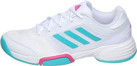 adidas Mujeres Barricade Club Carpet Zapatillas De Tenis Zapatilla para Pista Cubierta Blanco - Turquesa 44 2/3: Amazon.es: Deportes y aire libre