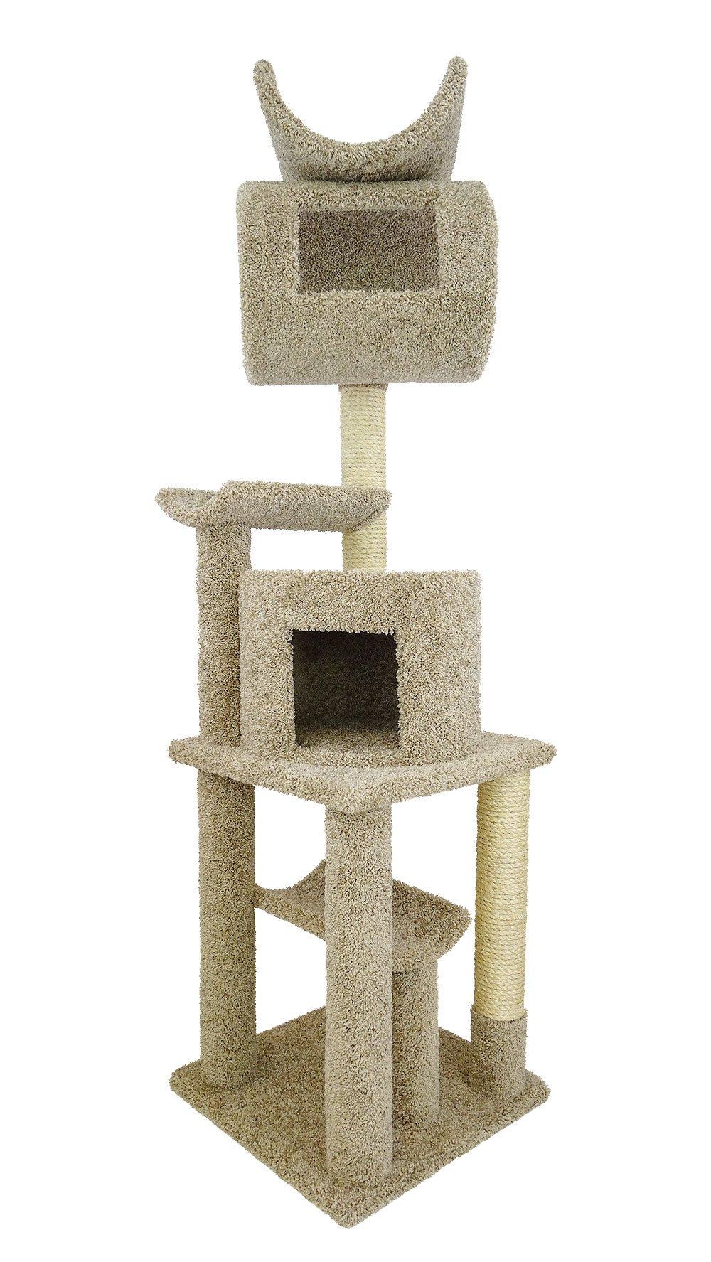 New Cat Condos Premier Cat Playstation, 72-Inch, Beige