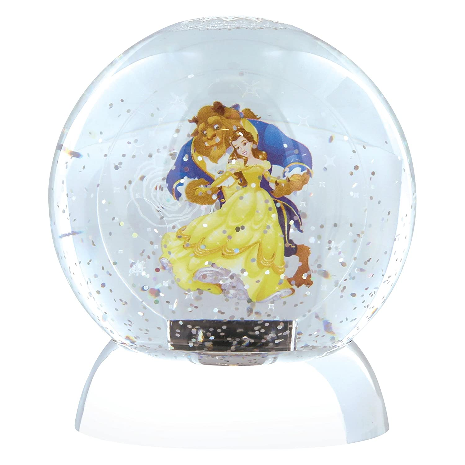 Department 56 Disney Beauty and The Beast Waterdazzler Globe, Multi-Colour Enesco 4059483