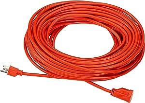 AmazonBasics 16/3 Vinyl Outdoor Extension Cord, Set of 2 - 100 Feet, Orange