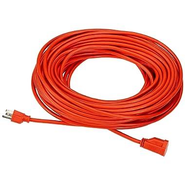 AmazonBasics 16/3 Vinyl Outdoor Extension Cord - 100 Feet (Orange)
