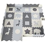 Soft Foam Baby Play Mat | Perfect Playmat for Tummy Time & Crawling - Extra Thick Padded Tiles Protect Infants…