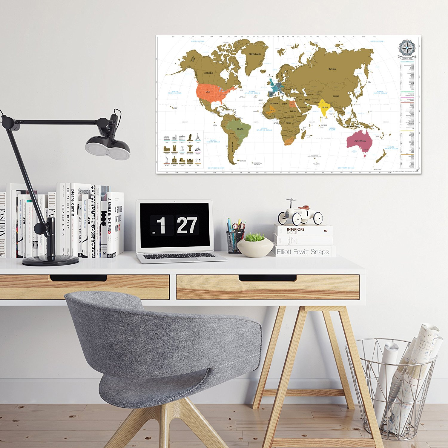 benehacks carte du monde gratter poster mural en. Black Bedroom Furniture Sets. Home Design Ideas