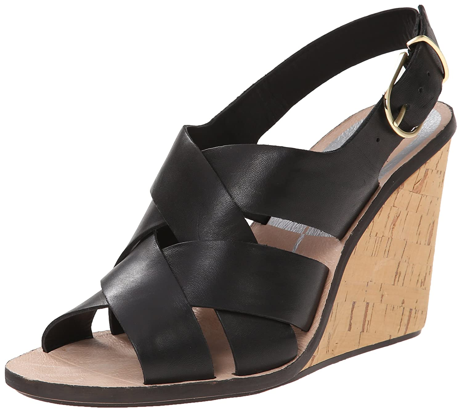Dolce Vita Women's Remie Wedge Sandal B00Q6NE7T0 6 B(M) US|Black