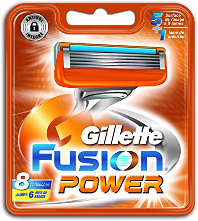 Antigua Version Gillette 80201238 – Fusion Power Pack de 8 cuchillas: Amazon.es: Salud y cuidado personal