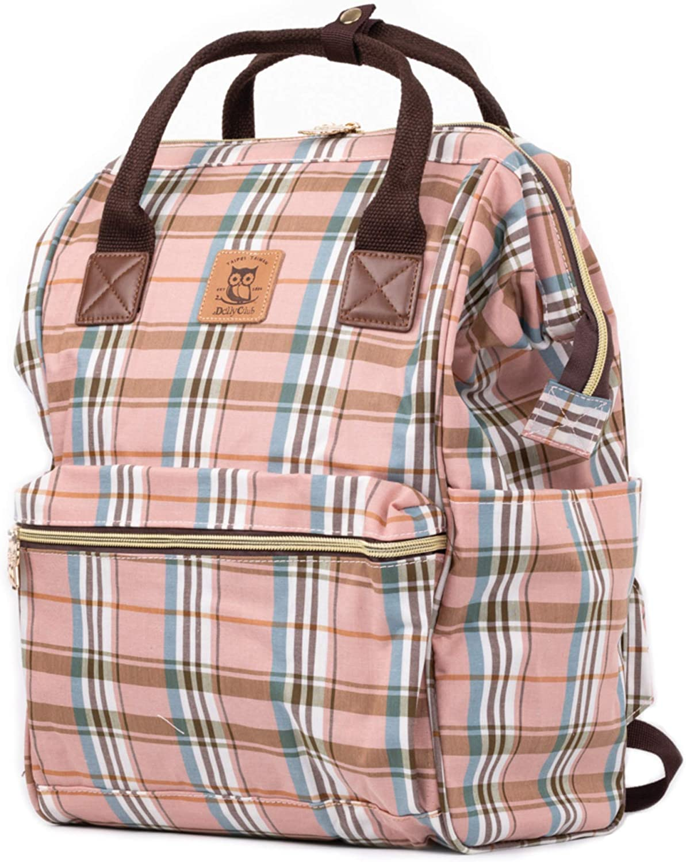 Laptop Backpack Computer Bag Traveling Backpack School Backpack Casual Daypack Plaid Pattern Stylish Design Waterproof