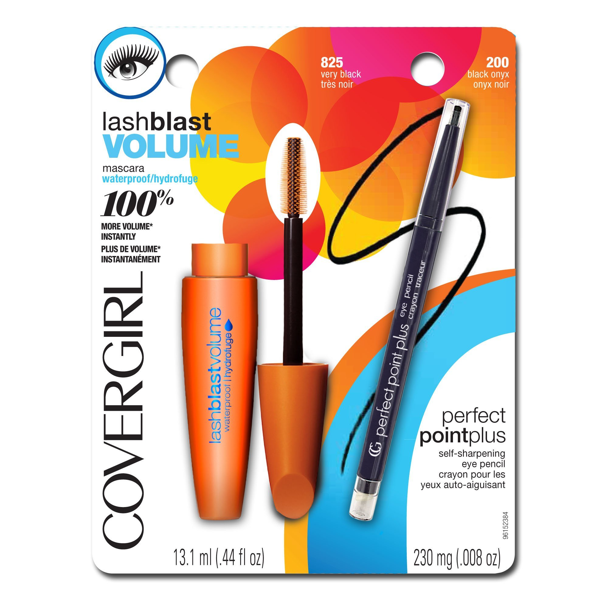 COVERGIRL LashBlast Volume Water Resistant Mascara Very Black 825 (.44 oz) and Perfect