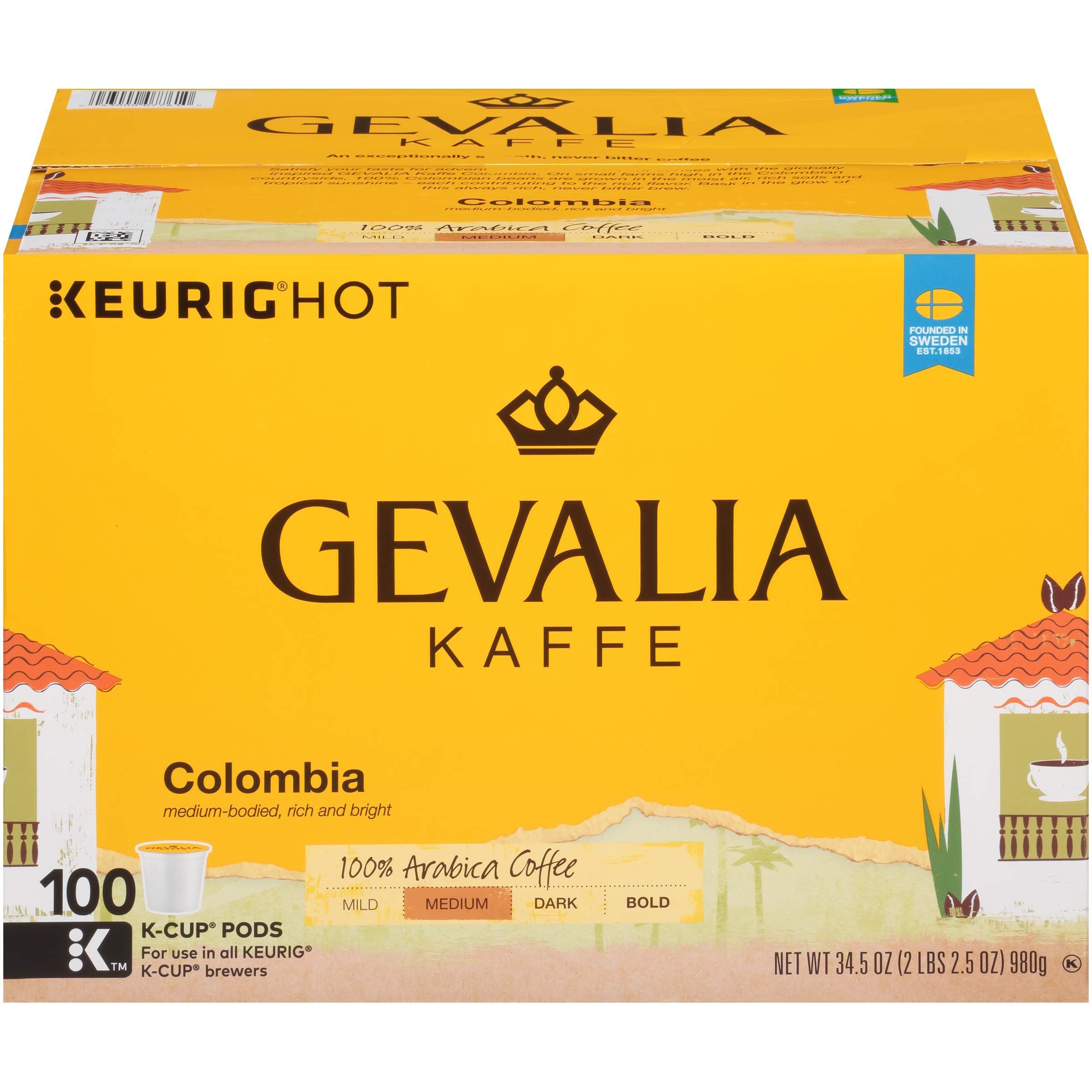 Gevalia Colombia Coffee K-Cup Pods, 100 Count