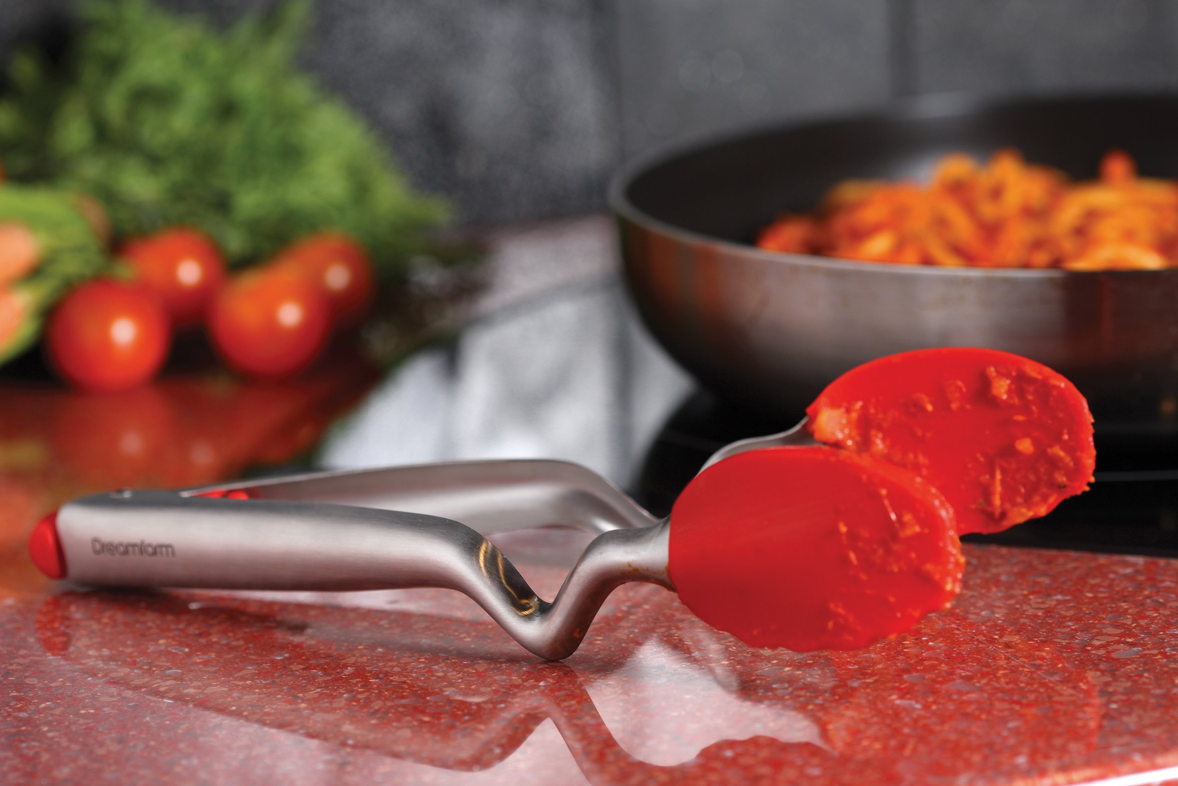 Dreamfarm Clongs 9-Inch - Click-Lock Sit Up Tongs with Silicone Heads (Red) by Dreamfarm (Image #10)