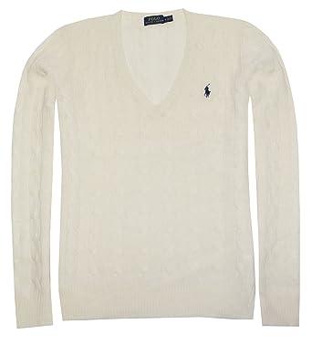 Polo Ralph Lauren Womens Merino Wool Sweater (XS, Cream)