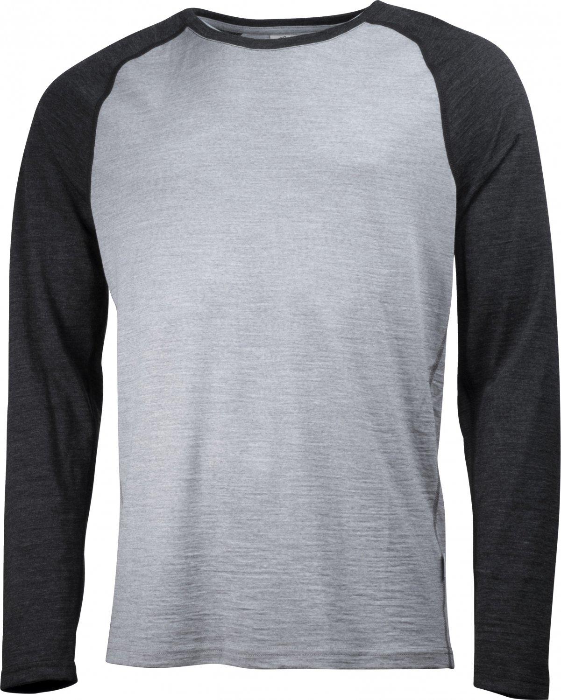 Lundhags Merino Light Raglan LS Outdoorshirt (Grau Dark-Grau)