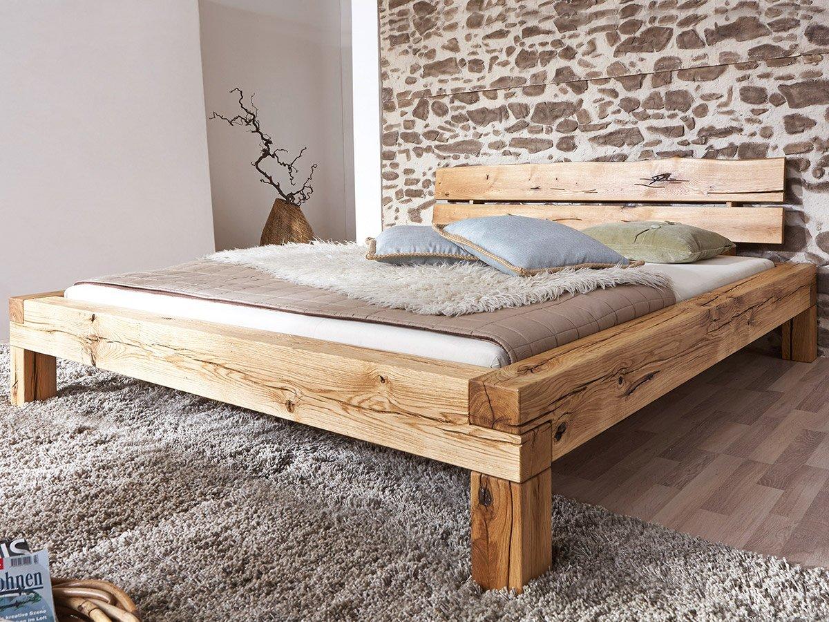 LIAS Massivholzbett Wildeiche geölt, 160 x 200 cm