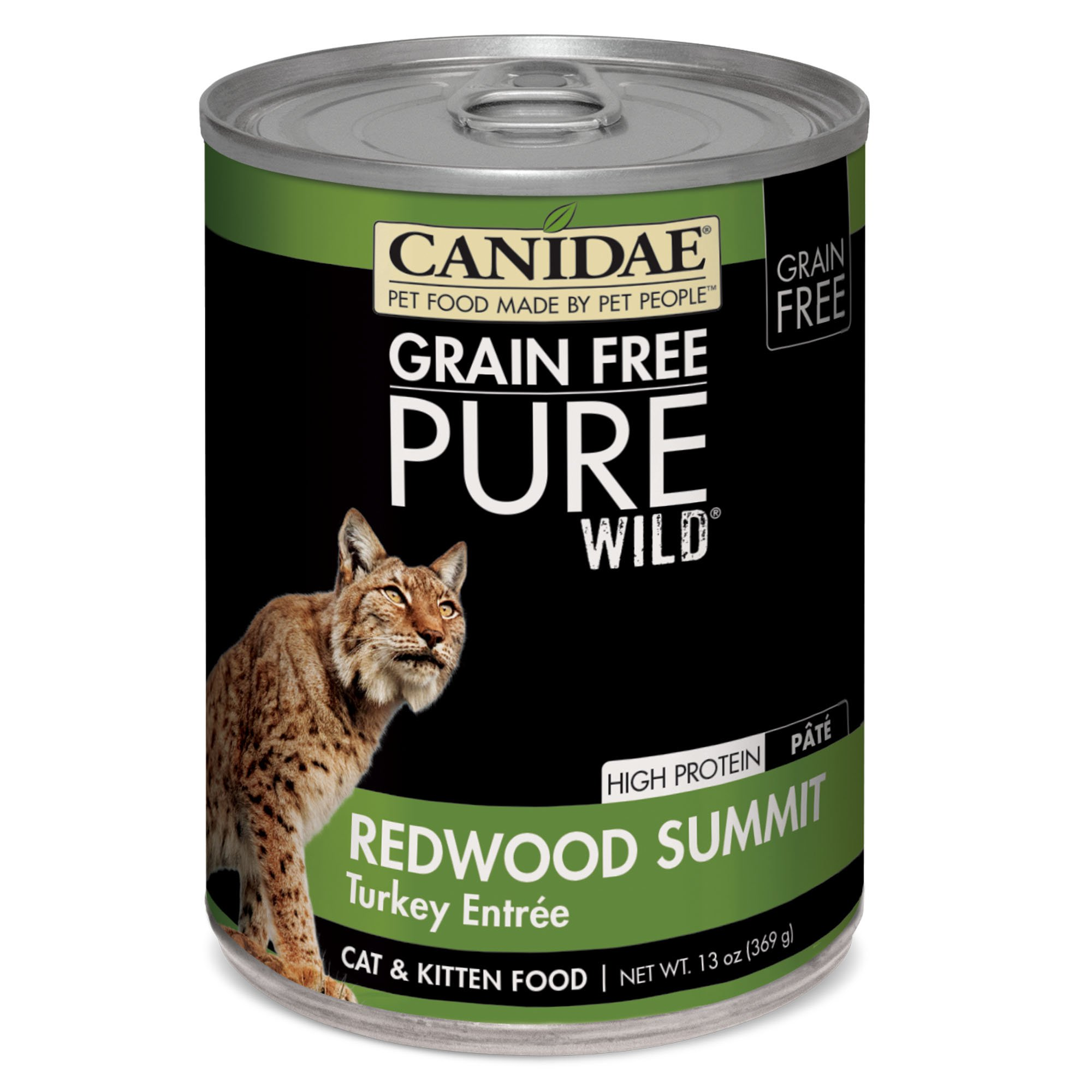 CANIDAE Grain Free PURE WILD: Redwood Summit Cat Wet Food with Turkey, 13 oz (12-pack) by CANIDAE (Image #1)