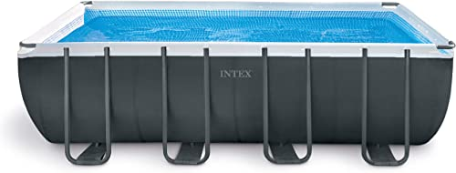 Intex 18ft X 9ft X 52in Ultra XTR Rectangular Pool Set with Sand Filter Pump, Ladder, Ground Cloth Pool Cover