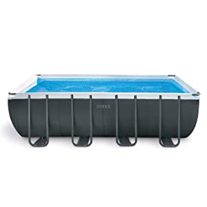 Intex 18ft x 9ft x 52in Ultra XTR Rectangular Pool Set with Sand Filter Pump, Ladder, Ground Cloth, & Pool Cover