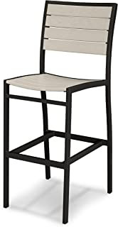 product image for POLYWOOD A102FABSA Euro Bar Side Chair, Textured Black/Sand