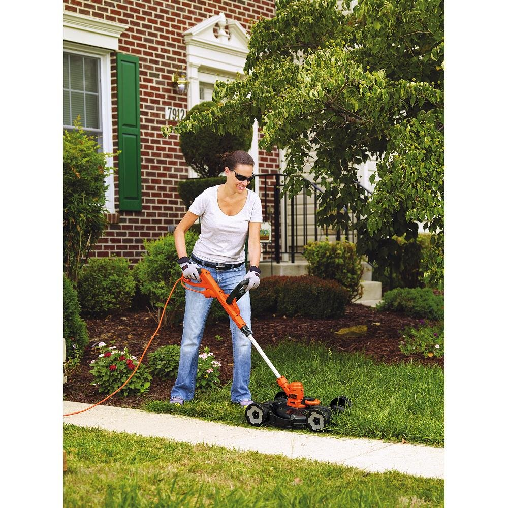 $93.41 (was $143.99) BLACK + DECKER MTE912 12″ Electric 3-in-1 Trimmer/Edger and Mower, 6.5-Amp
