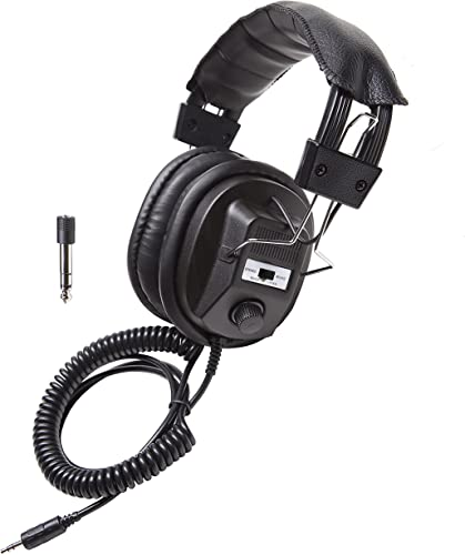 Califone 3068AV Stereo Mono Headphones, 3.5 mm Stereo Plug, Black