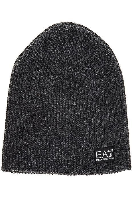 Emporio Armani EA7 cuffia berretto uomo nuova originale train lux grigio   Amazon.it  Scarpe e borse b752a0c080a6