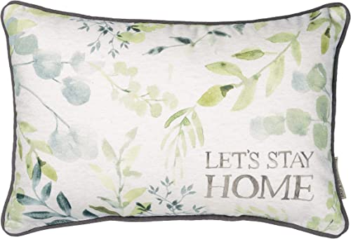 Primitives by Kathy Double-Sided Throw Pillow, 15 x 10-inches, Let s Stay Home