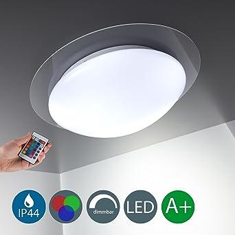 LED Deckenleuchte Dimmbar 16 Farben Inkl Platine 230V IP44 Badlampe