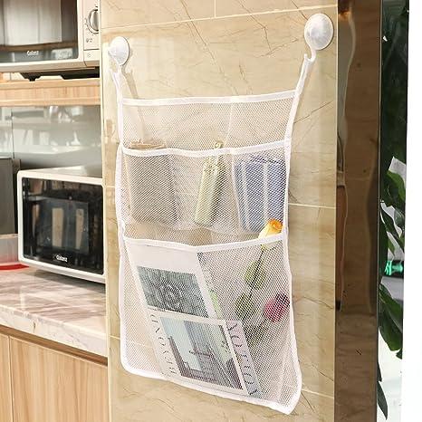 OUNONA - Bolsa de almacenamiento multifunción con ganchos con ventosa para  colgar de la cocina 7369c460be60