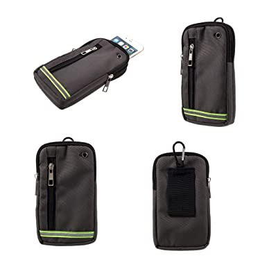 Amazon.com: DFV mobile - Funda Cinturon Universal Multiusos Reflectante con 3 Compartimentos para=> ALCATEL PIXI Unite > Verde (17.5 x 10 cm): Cell Phones ...