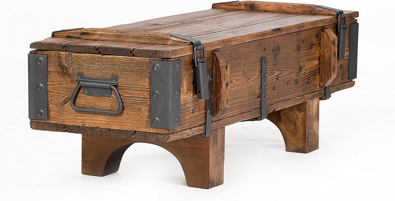 Propio diseño rústico mesa de café de madera pino pecho tronco caja de manta Vintage Cottage 105 cm / 37 cm/ 38 cm: Amazon.es: Hogar