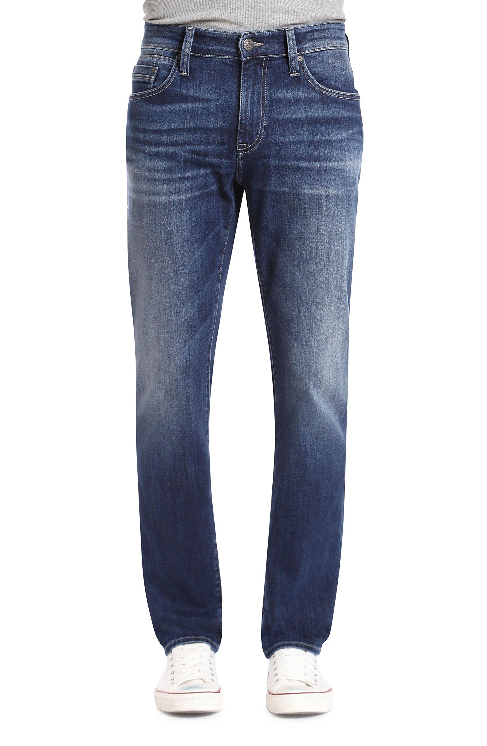 Mavi Jeans Men's Marcus Regular Rise Slim Straight Leg in Dark Blue Williamsburg Dark Blue Williamsburg 33 32