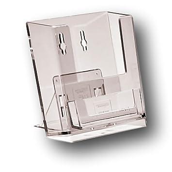 Epos Gear® 25 A6 independiente gegenober Listón acrílico con dispensador de soporte para tarjeta de visita folleto folleto pantalla Menú Soporte de ...