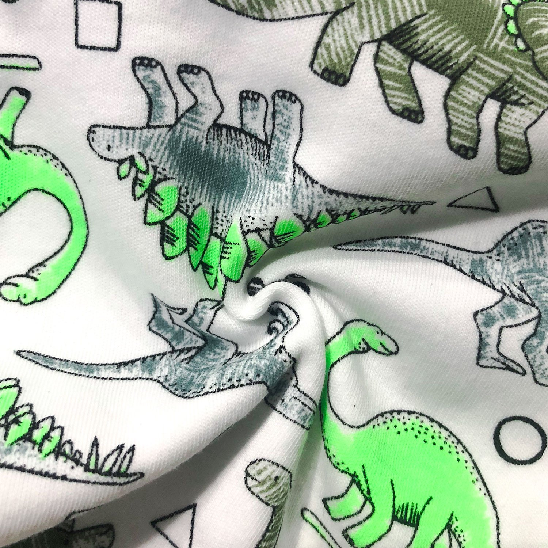 OPAWO Baby Boys Girls Short-Sleeve Rompers Set of 2 Infant Toddler Sunmmer Pajamas Jumsuit