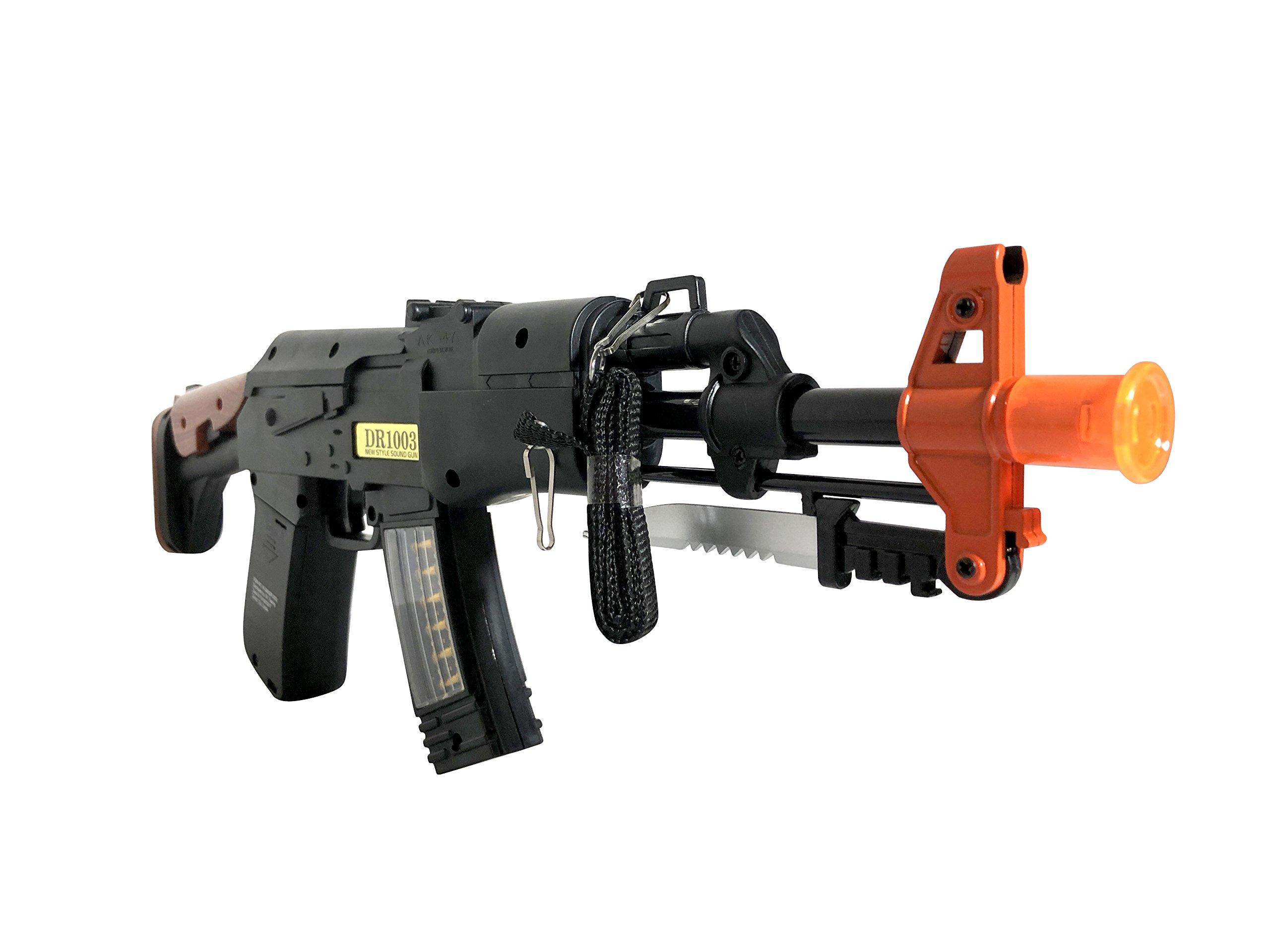 LED Toy Gun - 16 Inch Machine Blaster with Knife