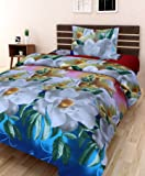 Amayra Home 3D Designer Printed 180TC Polycotton Single Bedsheet with 1 Pillow Cover